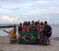Brazilian Beach Island Flag International Service Learning Program NMC