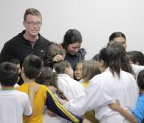 Community Center First Day Kids Hugs