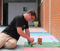 Community Center Painting Floor