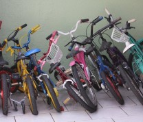 Volunteer Childreen Care House Kids Bikes
